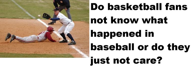baseball fans this blog needs sports